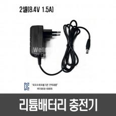 리튬배터리 2셀 충전기(Power-Tek)